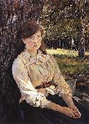 Girl in the Sunlight., Valentin Serov