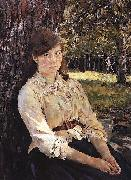 Girl in the Sunlight Portrait of Maria Simonovich, Valentin Serov