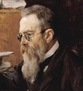 Crop of portrait of the composer Nikolai Andreyevich Rimsky-Korsakov, Valentin Serov