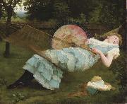 Valentine Cameron Prinsep Prints Sweet Repose oil painting reproduction