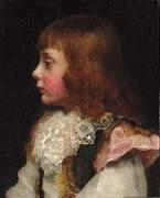 Valentine Cameron Prinsep Prints Portrait of a boy oil painting reproduction