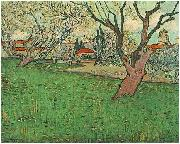 View of Arles with flowering trees, Vincent Van Gogh