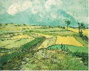 Wheatfield at Auvers under Clouded Sky, Vincent Van Gogh