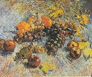 Still Life with Grapes, apples, lemons and pear, Vincent Van Gogh