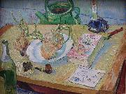 Still life with a plate of onions, Vincent Van Gogh