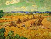 Wheatfield with sheaves and reapers, Vincent Van Gogh