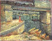 Bridges across the Seine at Asnieres, Vincent Van Gogh