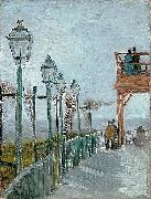 Terrace and Observation Deck at the Moulin de Blute-Fin, Montmartre, Vincent Van Gogh