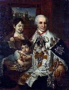 Vladimir Lukich Borovikovsky Portrait of count G.G. Kushelev with children oil painting