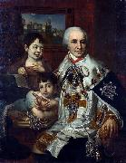 ortrait of count G.G. Kushelev with children