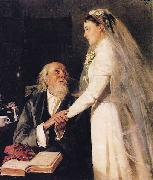 Vladimir Makovsky Goodbye, Papa oil painting