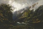 WC Piguenit The Upper Nepean oil painting