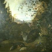 WITHOOS, Mathias Otter in a Landscape oil painting