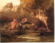 William Bell Scott Ariel and Caliban by William Bell Scott oil painting