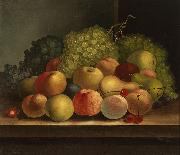 William Buelow Gould Still life, fruit oil on canvas painting by Van Diemonian (Tasmanian) artist and convict William Buelow Gould oil painting