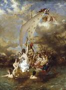 William Etty Youth on the Prow and Pleasure at the Helm oil painting reproduction