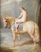 William Holmes Sullivan Lady Godiva oil painting