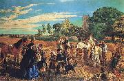 William Maw Egley A Harvest Scene in Norfolk oil painting