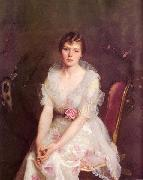 William McGregor Paxton Portrait of Louise Converse oil painting
