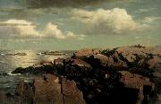 William Stanley Haseltine Massachusetts oil painting