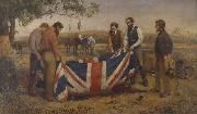 William Strutt The Burial of Burke oil painting