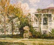 William Woodward Woodward House, Lowerline and Benjamin Streets oil painting