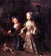 Frederick the Great as a child with his sister Wilhelmine