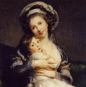 eisabeth Vige-Lebrun Turban with Her Child oil painting artist