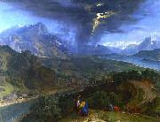 Mountain Landscape with Lightning.