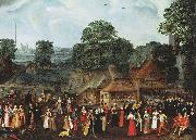 joris Hoefnagel A Fete at Bermondsey or A Marriage Feast at Bermondsey. oil painting reproduction