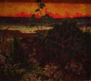 Landscape with red cloud, konrad magi