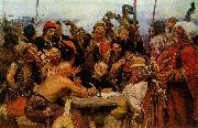 The Reply of the Zaporozhian Cossacks to Sultan of Turkey, llya Yefimovich Repin