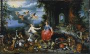 peter breughel the elder Allegory of Air and Fire oil painting artist