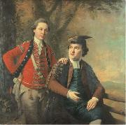 Double portrait of General Richard Wilford of the British Army and his contemporary Sir Levett Hanson.