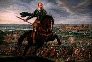 unknow artist Gustavus Adolphus of Sweden at the Battle of Breitenfeld oil painting reproduction