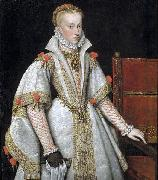 A court portrait of Queen Ana de Austria, unknow artist