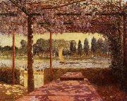 unknow artist The Trellis by the River oil painting reproduction