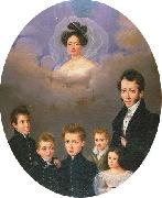 Creole Family Mourning Portrait, New Orleans