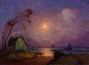 Cottage in the Moonlight in Briere