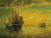 A Golden Sunset, unknow artist