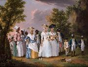 Free Women of Color with their Children and Servants in a Landscape,