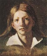 Theodore   Gericault Portrait Study of a Youth oil painting reproduction