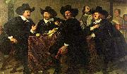 Four aldermen of the Kloveniersdoelen in Amsterdam