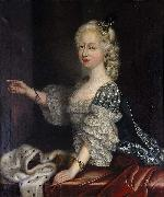 unknow artist Portrait of Augusta Hanover duchess of Brunswick-Luneburg oil painting on canvas