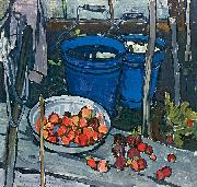 unknow artist Durk blue backets oil painting reproduction