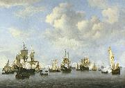 willem van de velde  the younger The Dutch Fleet in the Goeree Straits oil painting