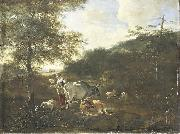 Adam Pijnacker Landscape with cattle oil painting artist
