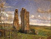 Albert Gottschalk Ruins in Campagna oil painting reproduction