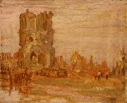 Alexander Young Jackson Cathedral at Ypres, Belgium oil painting