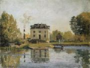 Alfred Sisley Factory on the banks of the Seine. Bougival oil painting on canvas